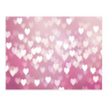 Cute Pink Hearts Postcard