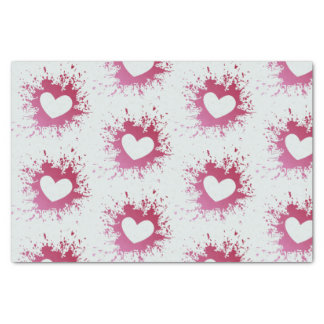 Cute Pink Hearts Tissue Paper