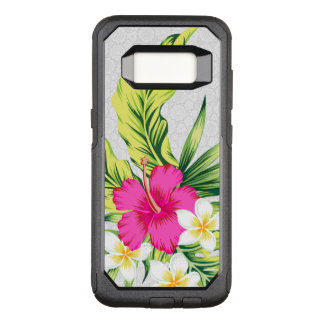Cute Pink Hibiscus Illustration OtterBox Commuter Samsung Galaxy S8 Case