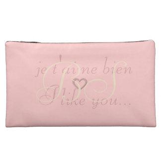 Cute Pink I like You Add Initials Bag