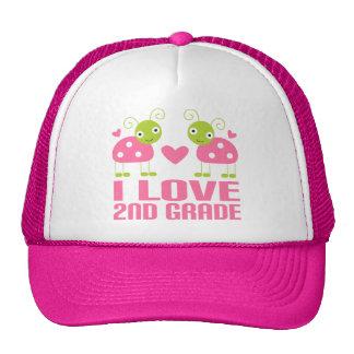 Cute Pink Ladybug I Love 2nd Grade Gift Hat