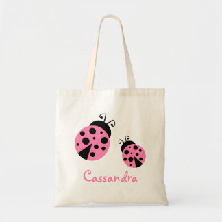 Cute Pink Ladybugs Tote Bag