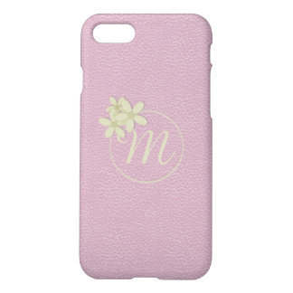 Cute Pink Leather Effect iPhone 7 Case