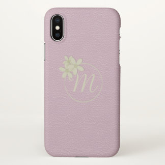 Cute Pink Leather Effect iPhone X Case
