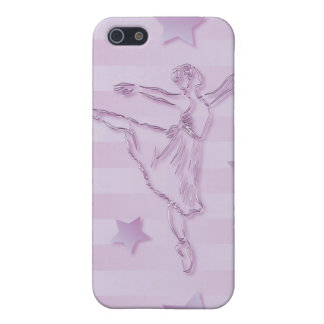 Cute pink lilac ballerina and stars iPhone 5/5S cover