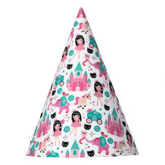 Cute Pink Little Princess Unicorn Magical Pattern Party Hat