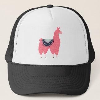 Cute Pink Llama Trucker Hat