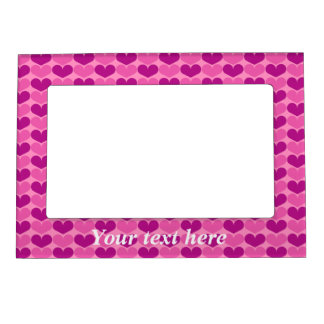 Cute pink magnetic picture frame for refridgerator