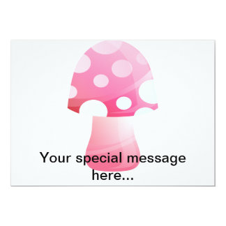 Cute Pink Morsel Mushroom Cards
