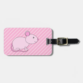 Cute Pink Mouse. Luggage Tag