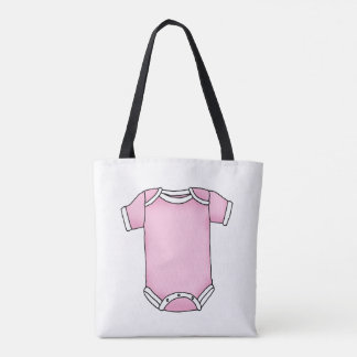 cute pink new baby girl cloth tote bag