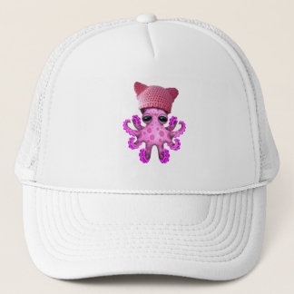 Cute Pink Octopus Wearing Pussy Hat