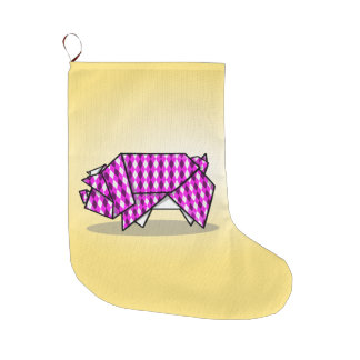 Cute Pink Origami Pig