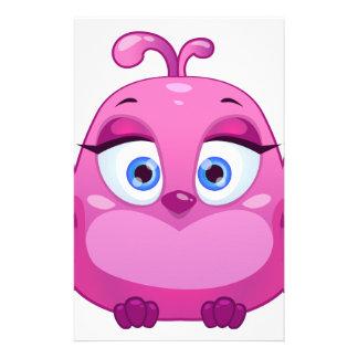 Cute pink Owl bird Stationery