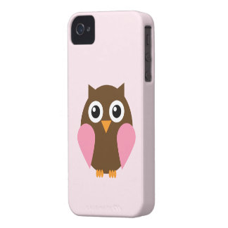 Cute Pink Owl iPhone 4 Case-Mate Case