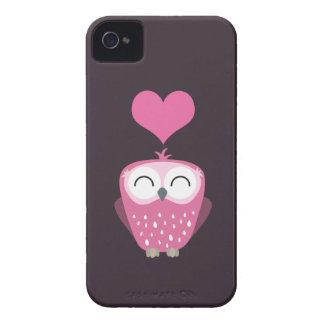 Cute Pink Owl Love Heart Blackberry Bold Case