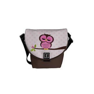 Cute Pink Owl Commuter Bag