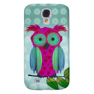 Cute Pink Owl Samsung Galaxy S4 Covers