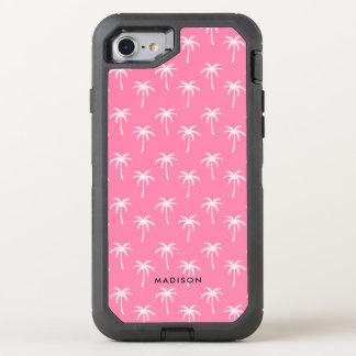 Cute Pink Palm Trees OtterBox Defender iPhone 8/7 Case