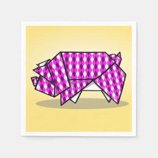 Cute Pink Patterned Paper Pig Paper Napkins
