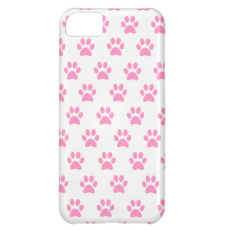 Cute Pink Paw Print Phone Case