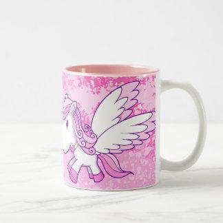 Cute Pink Pegasus Pony Mug