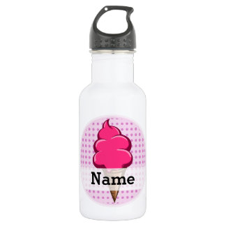 Cute pink personalized ice cream for girls 532 ml water bottle
