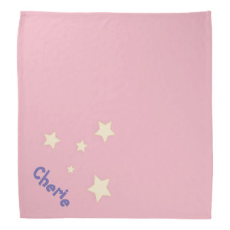 Cute pink personalized pet bandana