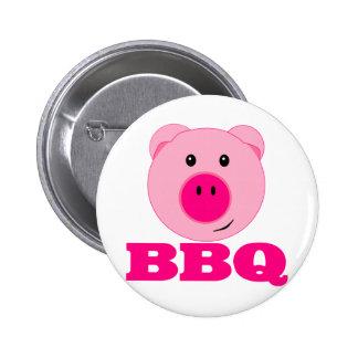 Cute Pink Pig BBQ Button
