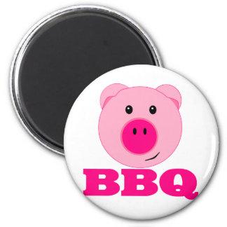 Cute Pink Pig BBQ Fridge Magnet