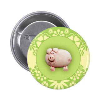 Cute Pink Pig Buttons