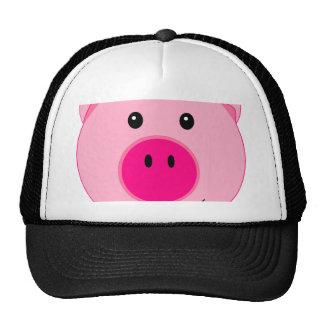 Cute Pink Pig Cap