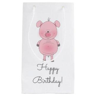 Cute Pink Pig Cartoon Small Gift Bag