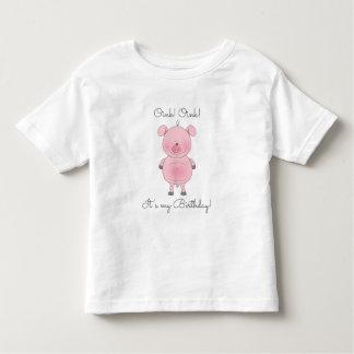 Cute Pink Pig Cartoon Toddler T-Shirt