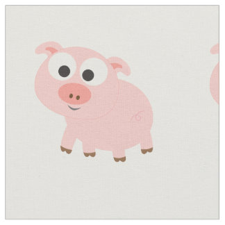 Cute Pink Pig Fabric