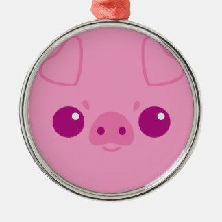 Cute Pink Pig Face Christmas Tree Ornaments