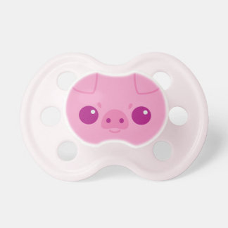 Cute Pink Pig Face Baby Pacifiers