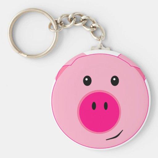 Cute Pink Pig Keychain