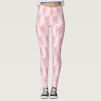 Cute Pink Pig Leggings