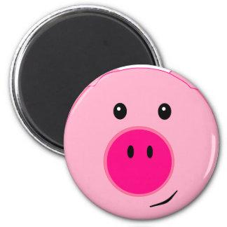 Cute Pink Pig Refrigerator Magnet