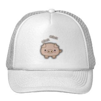 Cute Pink Pig Oink Mesh Hat