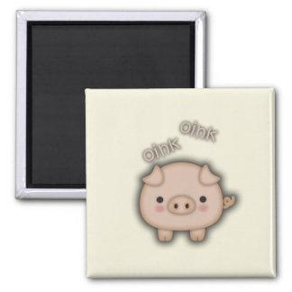 Cute Pink Pig Oink Fridge Magnet
