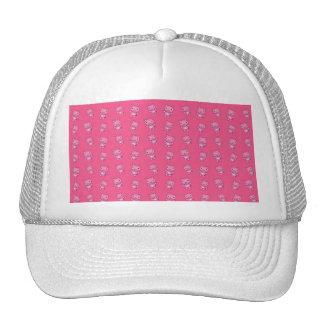 Cute pink pig pattern trucker hat
