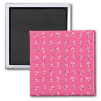 Cute pink pig pattern refrigerator magnets
