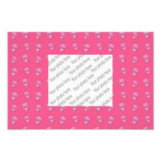 Cute pink pig pattern photo print