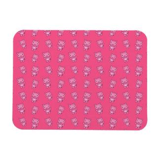 Cute pink pig pattern vinyl magnet