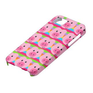 Cute Pink Pig Pattern Rainbow iPhone 5 Case