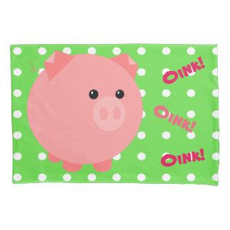 Cute Pink Pig Pillowcase
