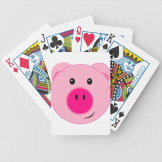 Cute Pink Pig Bicycle Card Deck