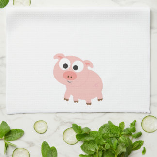 Cute Pink Pig Kitchen Towels
